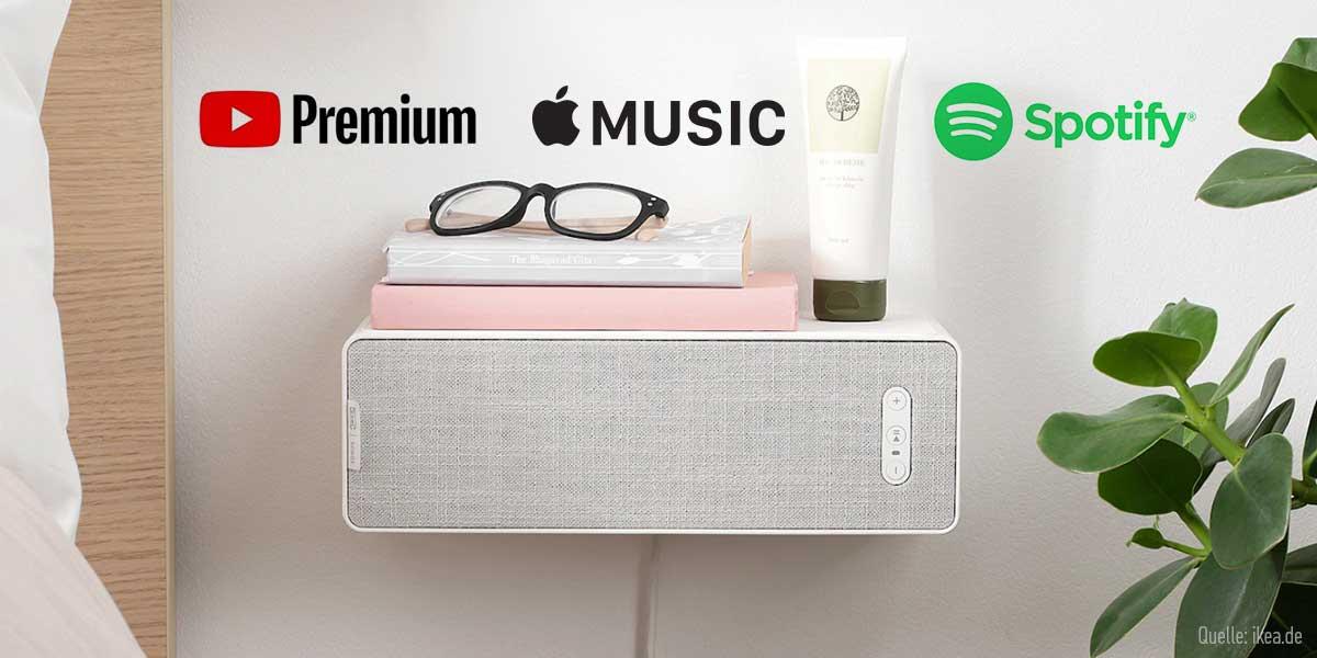 IKEA Symfonisk mit Streamingdiensten verbinden