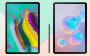 Galaxy Tab S6 vs. Tab S5e: Beide Tablets von vorne nebeneinander