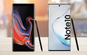 Galaxy Note 10 vs. Note 9: Die beiden Handys von vorne nebeneinander