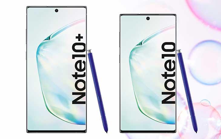 Vorderseite Note 10 vs. Note 10 Plus