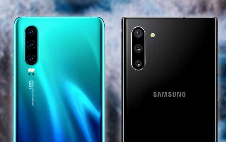 Samsung Note10 vs. Huawei P30: Kamera
