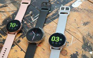 Galaxy Watch Active 2 vs. Galaxy Watch Active: Drei Uhren nebeneinander