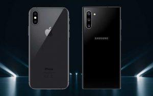 Galaxy Note 10 vs. iPhone Xs: Rückseite der beiden Handy