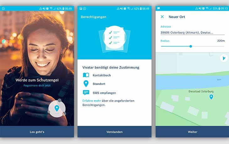 Begleit-App Sicher nach Hause mit Vivatar