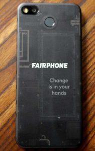 Fairphone 3 back