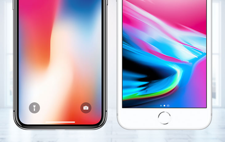 iPhone 8 (Plus) vs. iPhone X: Home-Button