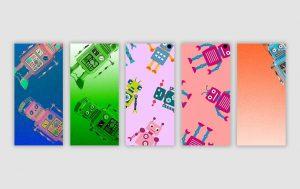 Samsung Galaxy S10 Wallpaper: Fünf lustige Roboter Hintergrundbilder zum downloaden
