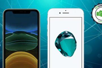 iPhone 11 vs. iPhone 7: Beide Handys nebeneinander von vorne