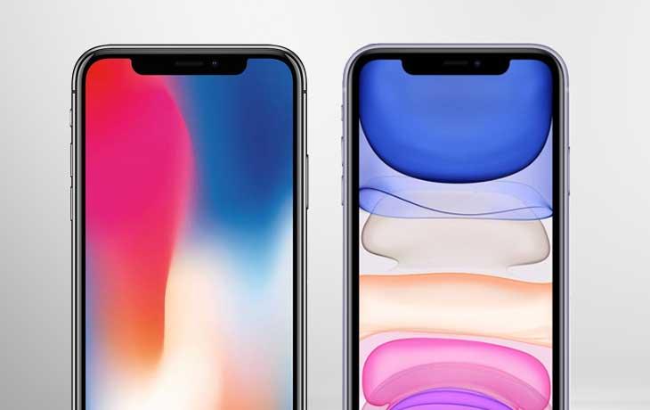 iPhone 11 vs. iPhone X: Beide iPhones von vorne im Notchvergleich