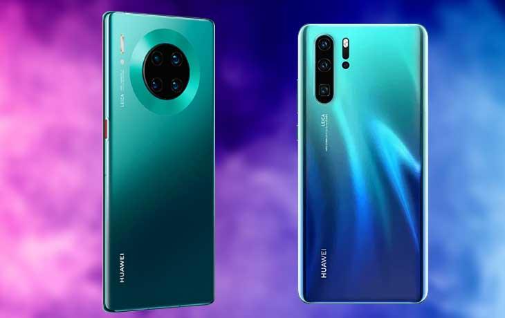 Huawei Mate 30 Pro vs. P30 Pro: Handys im Vergleich von hinten
