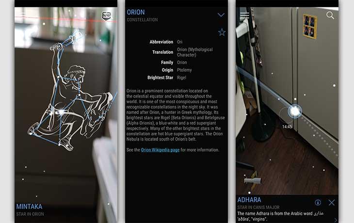 Sternenhimmel-App: Screenshots Sky View Lite