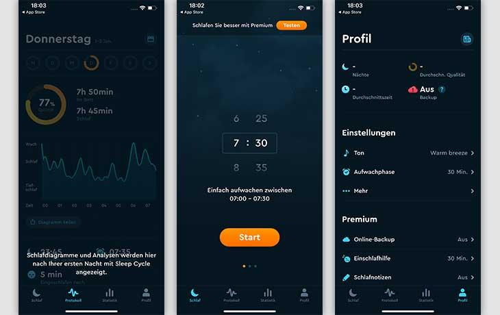 Wecker-App: Sleep Cycle