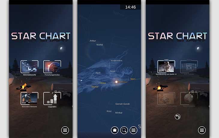 Sternenhimmel-App: Screenshots Sternatlas