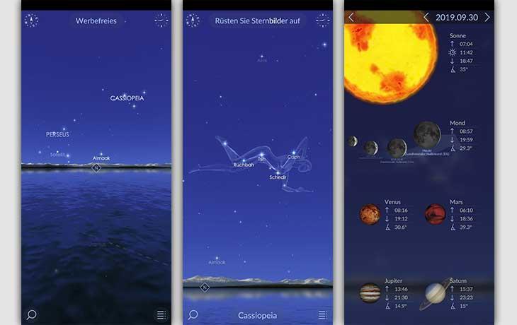 Sternenhimmel-App: Screenshots Star Walk 2