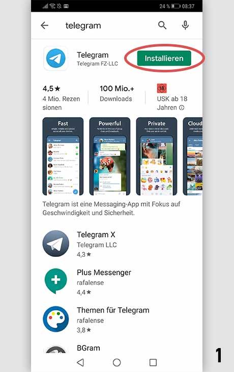 Telegram installieren Android 1
