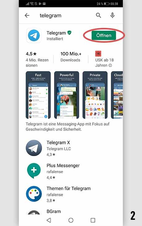 Telegram installieren Android 2