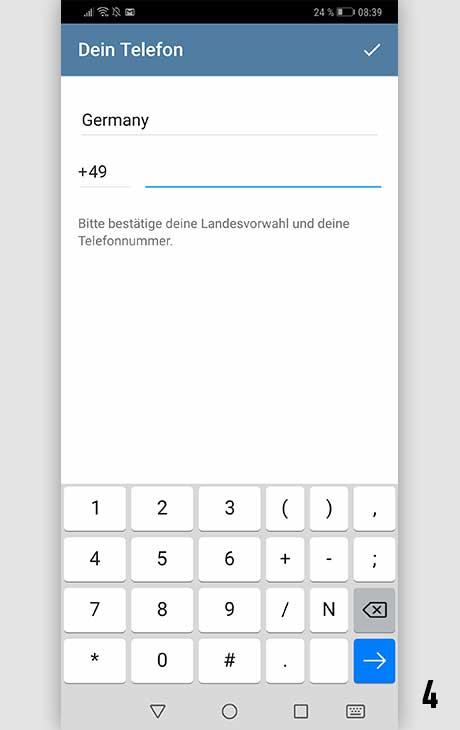 Telegram installieren Android 4