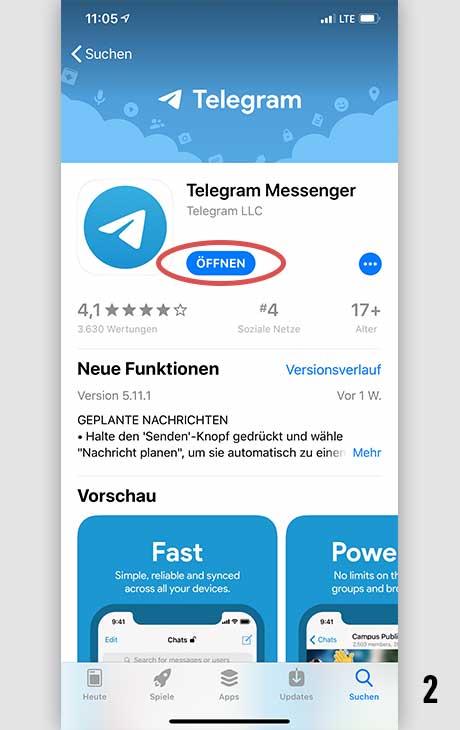 Telegram installieren iOS 2