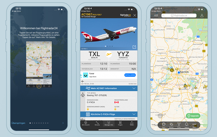 Flugradar24: Die Umfassende