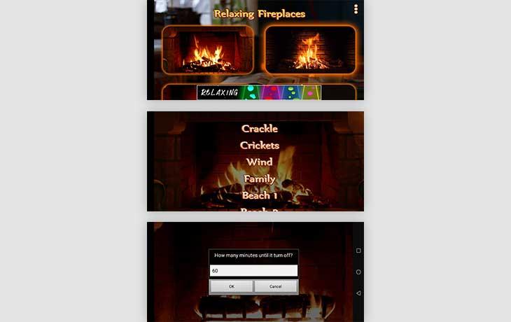 Kaminfeuer-App: Romantische Kamine für Android