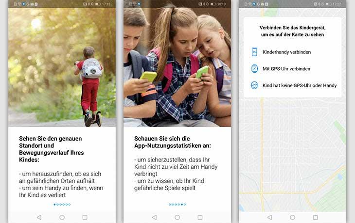 Ortungs-App: Screenshots Find My Kids