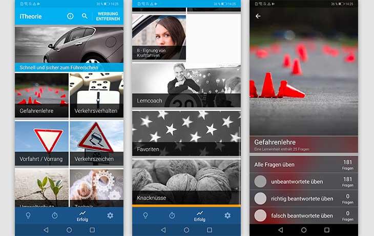 Führerschein-App: Screenshot iTheorie