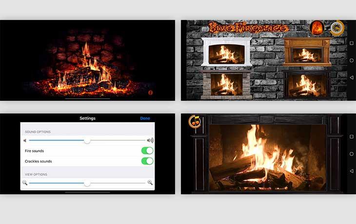Kaminfeuer-App: Fireplace