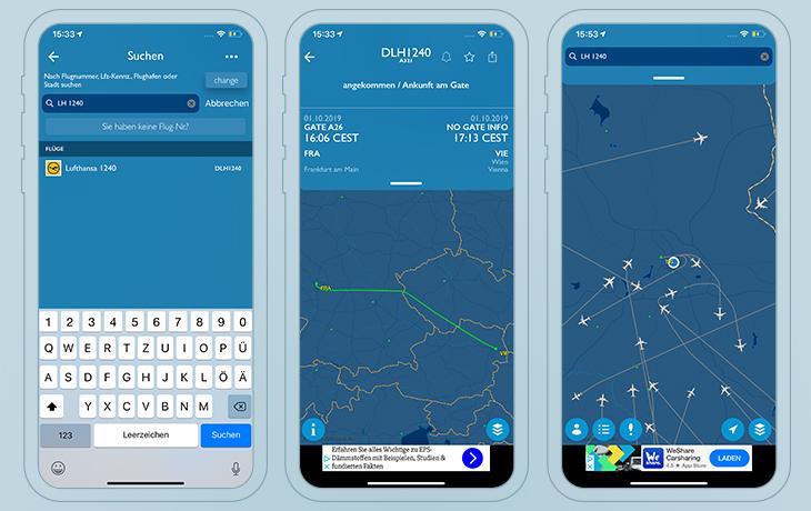 FlightAware Flug-Tracker