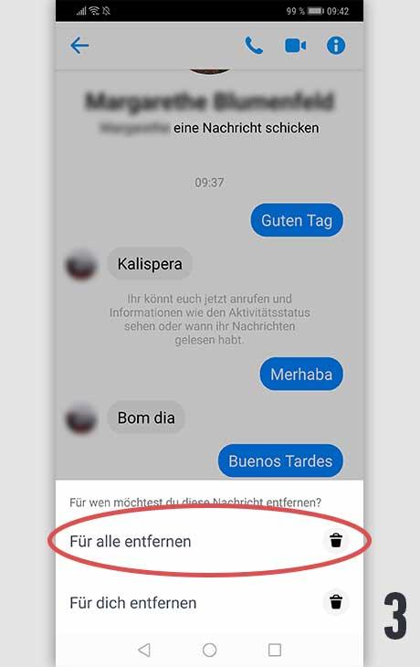 Facebook Nachricht löschen Android 3