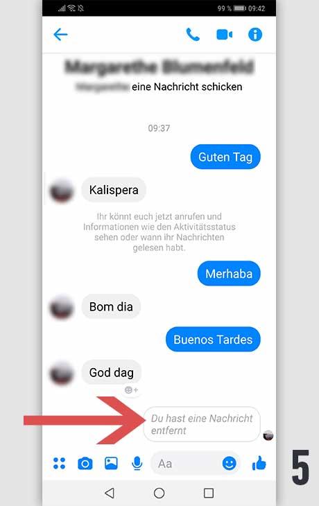 Facebook Nachricht löschen Android 5
