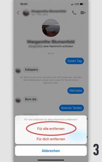 Facebook Nachricht löschen 3