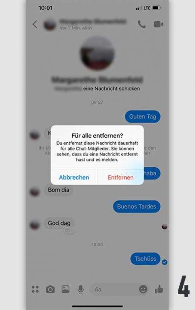 Facebook Nachricht löschen 4
