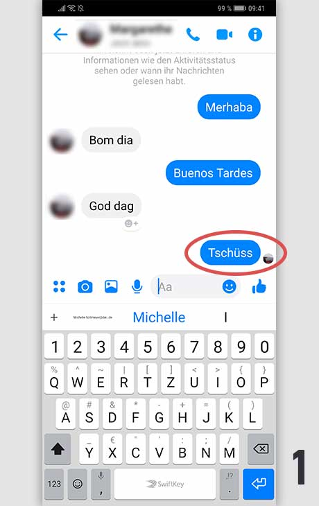 Facebook Nachricht löschen Android 1