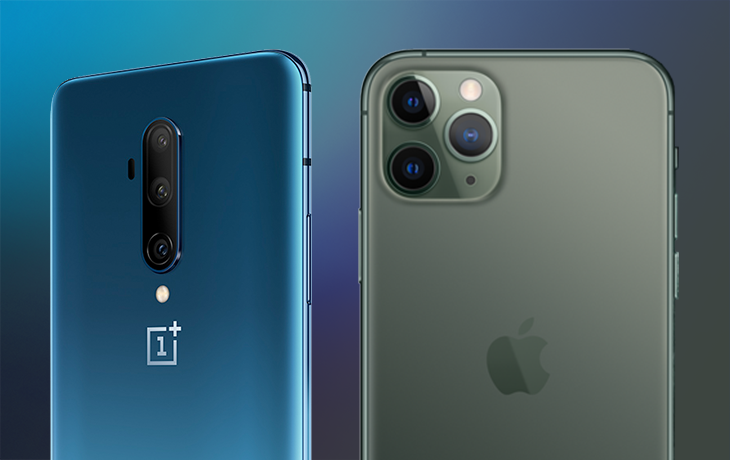 OnePlus 7T Pro vs. iPhone 11 Pro: Kameras nebeneinander