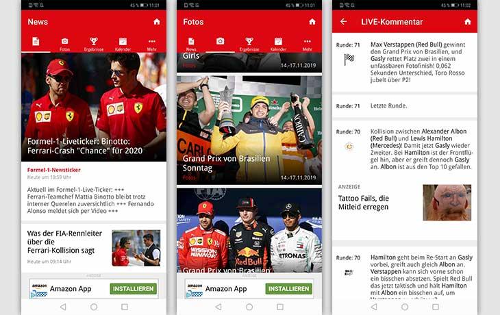 Formel1.de Screenshots