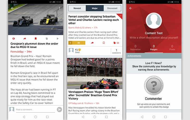 Formula News Screenshots