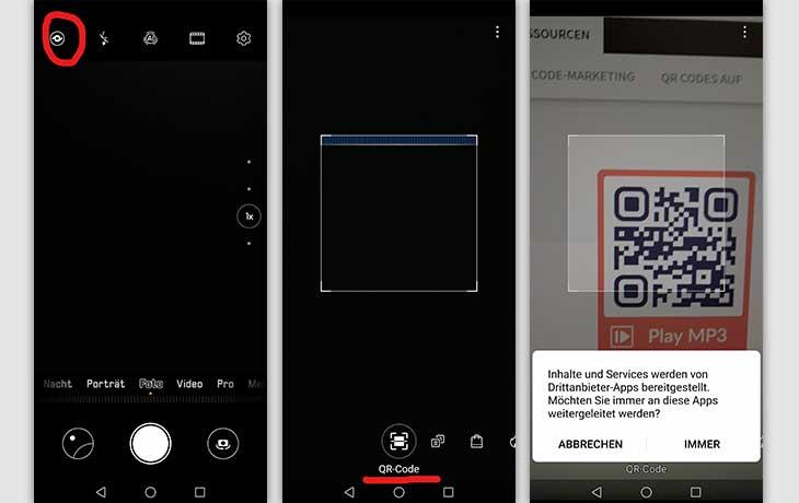 QR-Code scannen Huawei