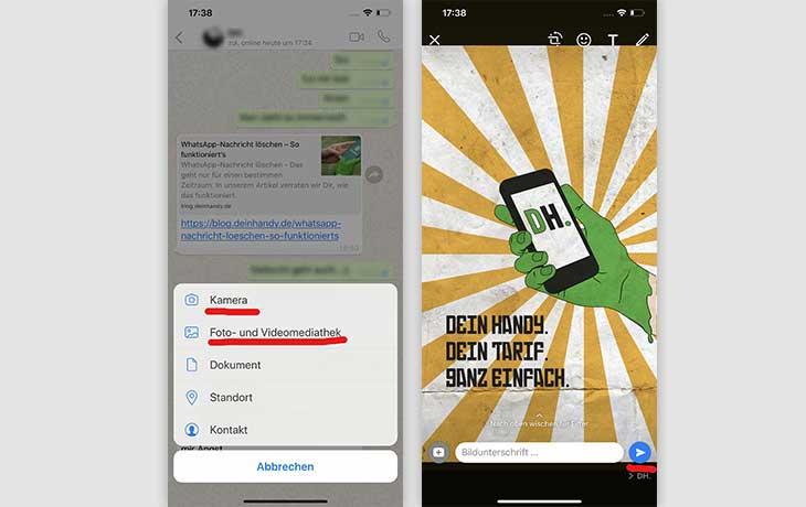 Bilder mit WhatsApp verschicken