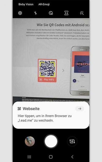QR-Code scannen Android