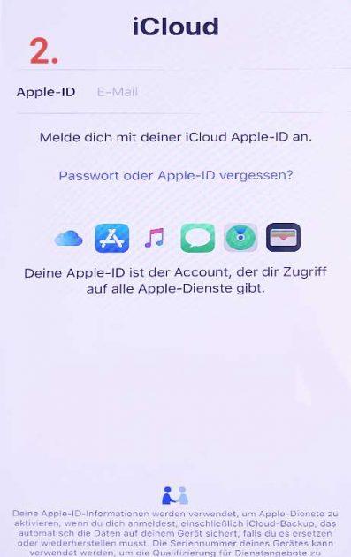 Backup laden iCloud Screenshot 2