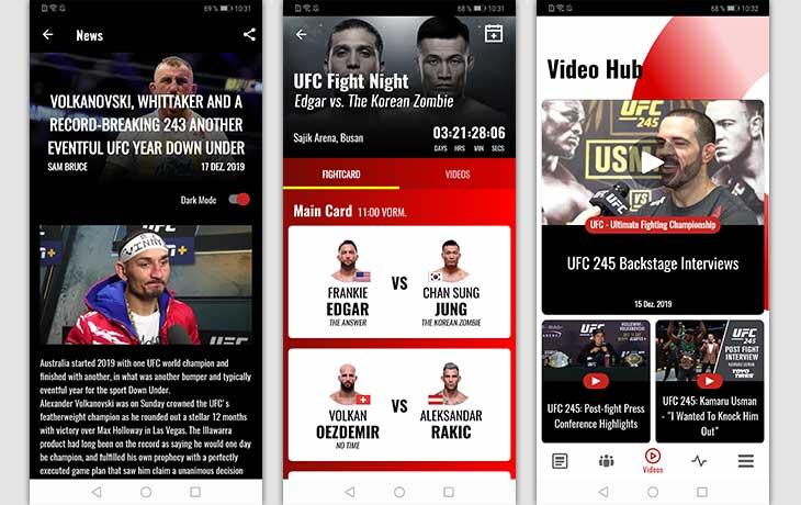 All MMA Screenshots