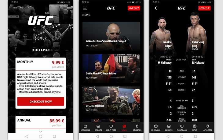 UFC Screenshots