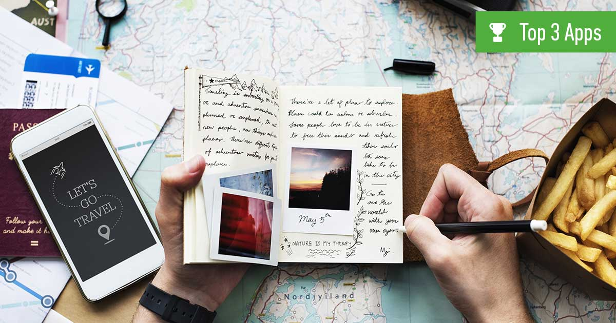 Reisetagebuch-Apps