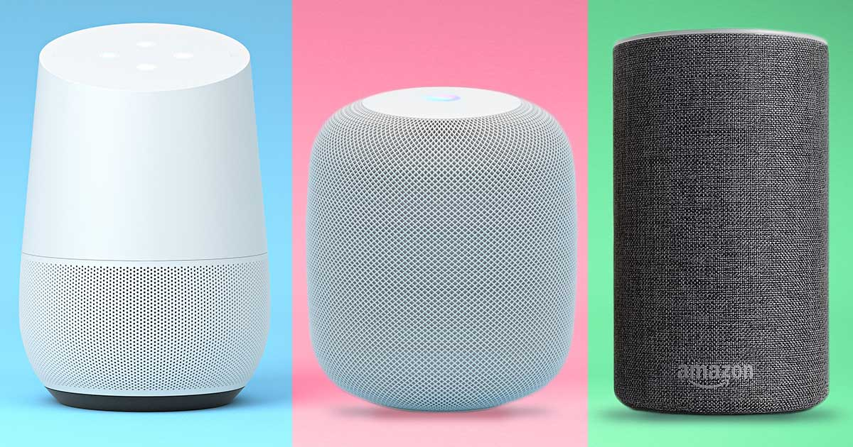 Google Home vs. Amazon Echo vs. Apple HomePod