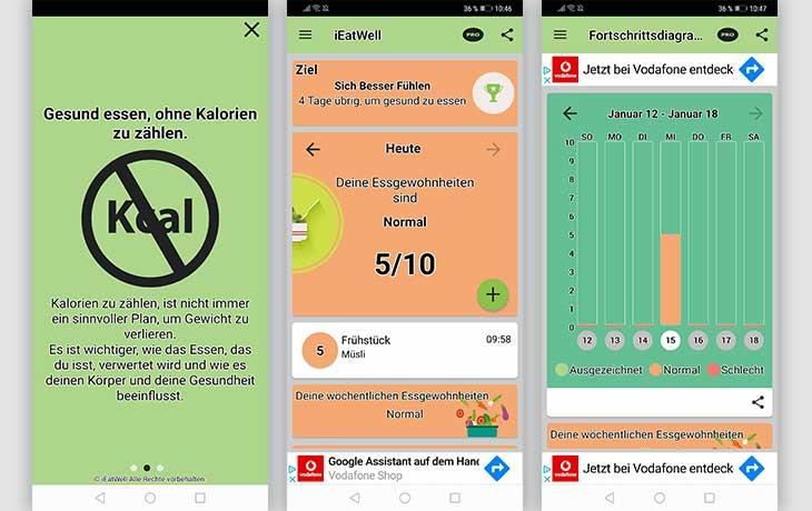 iEATWELL App Screenshots
