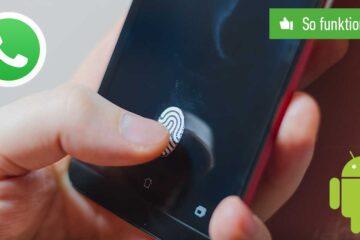 WhatsApp Fingerabdruck-Sperre aktivieren