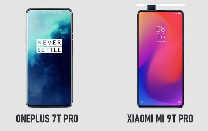 Xiaomi Mi 9T Pro und OnePlus 7T Pro Front