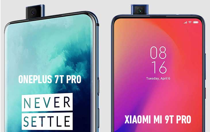 Xiaomi Mi 9T Pro und OnePlus 7T Pro Pop-Up-Kameras
