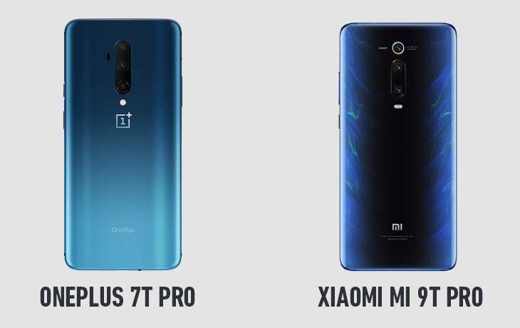 Xiaomi Mi 9T Pro und OnePlus 7T Pro Rückseite