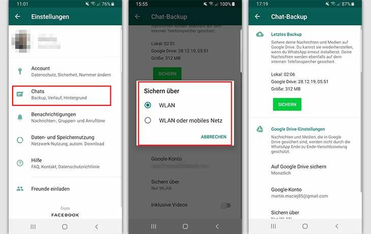 Wiederherstellen gelöscht ohne verlauf backup whatsapp Whatsapp chats